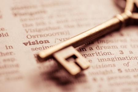 ビジネス成功の重要な概念のビジョン