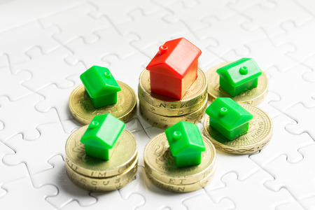 the property: Property & real estate market game Stock Photo