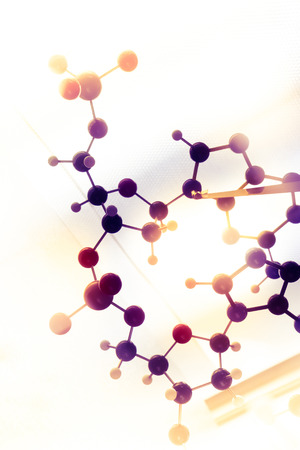 Molecular DNA Model Structure