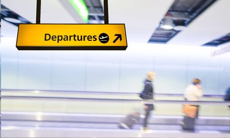 arrival departure board: Flight, arrival and departure board at the airport Stock Photo