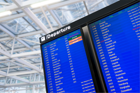 arrival departure board: Flight, arrival and departure  board at the airport Editorial
