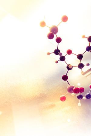 biotecnologia: Ciencia Molecule, Estructura molecular de ADN Modelo, trabajo en equipo concepto de negocio