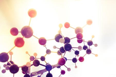 Science molekyl, molekylär DNA Model struktur, affärsTeamWork Stockfoto