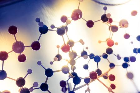 molecula: Ciencia Molecule, Estructura molecular de ADN Modelo, trabajo en equipo concepto de negocio