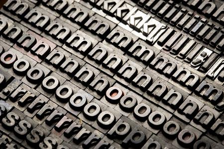 typesetting: vintage letterpress alphabet and number background