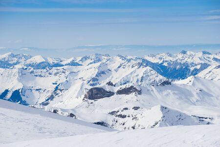 mountain snow: Swiss mountain, Jungfrau, Switzerland, ski resort Stock Photo