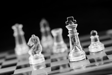 Chess board, business success concept