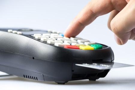 cardreader: Credit & debit card password payment Stock Photo