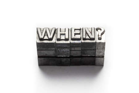 letterpress: Question word, who, what, when, where, why, letterpress