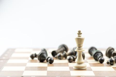 Šachy postava, obchodní koncepce strategie, vedení, tým a úspěch
