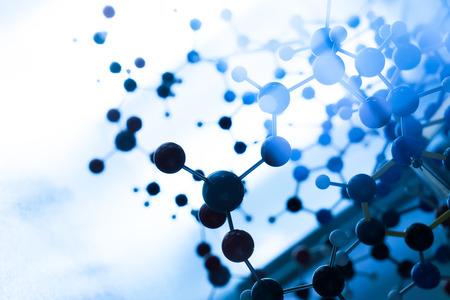 과학 분자 DNA 모델 구조, 비즈니스 팀워크 개념 스톡 콘텐츠