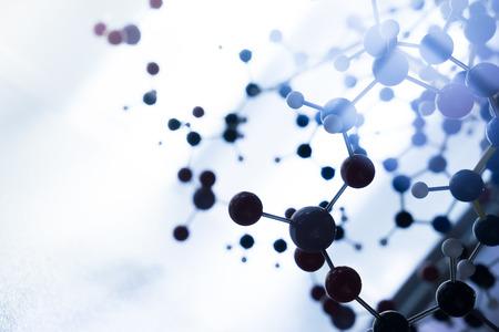 科学分子 DNA モデル構造、チームワークのビジネス コンセプト