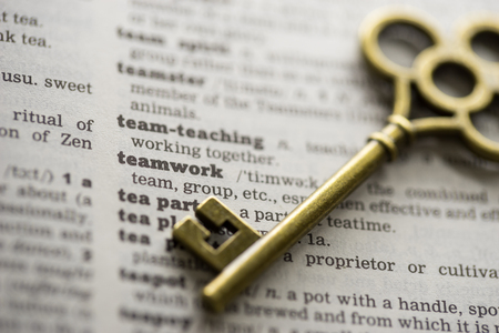 Business concept  key to team, teamwork 版權商用圖片