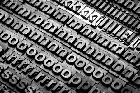movable: vintage letterpress alphabet and number background