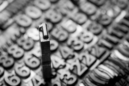 letterpress: vintage letterpress  number background Stock Photo