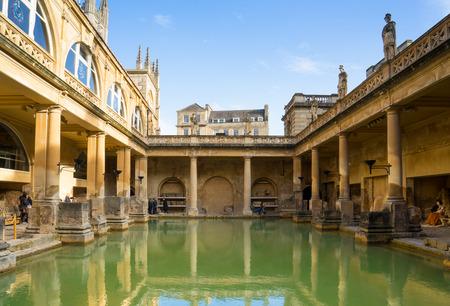 BATH, UK  NOVEMBER 30, 2014: View of the Roman Baths in Bath, UK Editorial