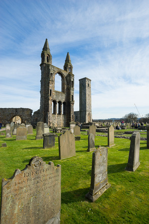 andrew: ST ANDREW, SCOTLAND APRIL 10, 2015: St Andrew cathedral in Scotland on sunny day
