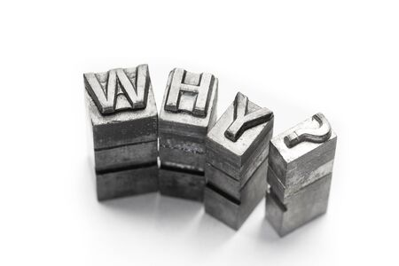 when: Question word, who, what, when, where, why, letterpress,