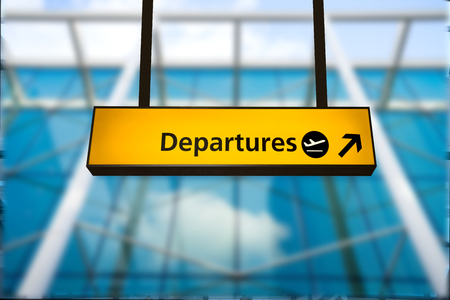 arrival departure board: Check in Airport Departure  Arrival information board sign