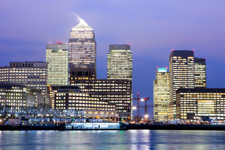 corporate building: Windows of Skyscraper Business Office, Corporate building in London City, England, UK
