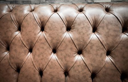 genuine leather: Brown Genuine leather  sofa abstract background Stock Photo