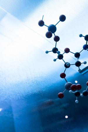 biology lab: Science Molecule DNA Model Structure, business teamwork concept