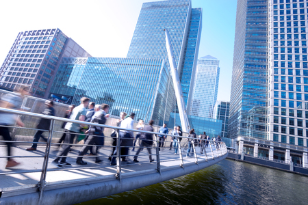 city of london: London office buinesss building movement in rush hour Stock Photo
