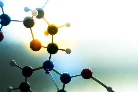 biotecnologia: ADN molecular de la molécula en una prueba de laboratorio de ciencias