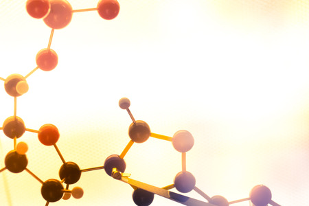atomo: ADN molecular de la molécula en una prueba de laboratorio de ciencias