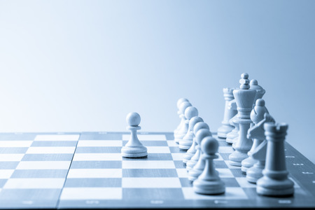 moving company: Chess figure, business concept strategy, leadership, team and success