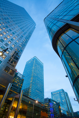 financial: Business Office, Corporate building London City, England Stock Photo