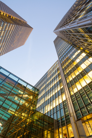 exterior architecture: Business Office, Corporate building London City, England Stock Photo