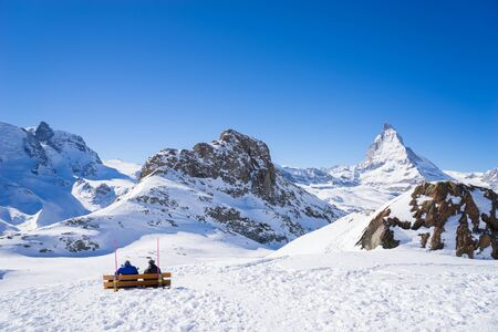 matterhorn: zermatt, switzerland, matterhorn, ski resort Stock Photo