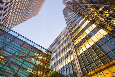 tall buildings: Business Office, Corporate building London City, England Stock Photo
