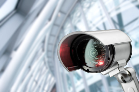 security safety: Security CCTV camera in office building