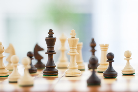 teamleader: Chess business concept success  strategy