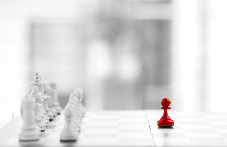 success strategy: Chess business concept success & strategy Stock Photo