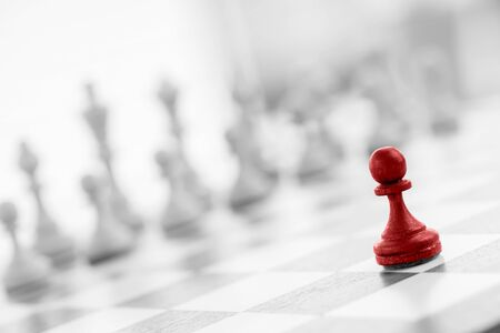 teamleader: Chess business concept success & strategy Stock Photo