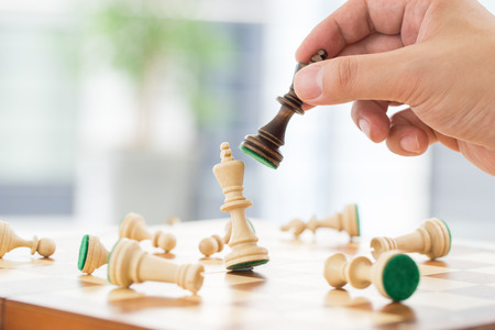 success concept: Chess business concept success  strategy