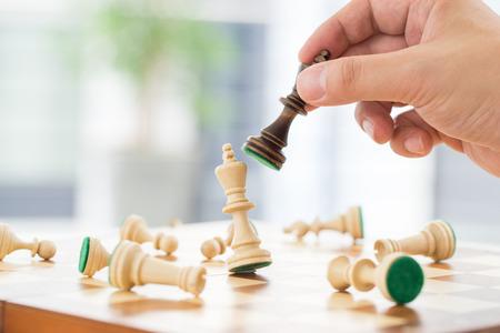 Schaken business concept succes strategie