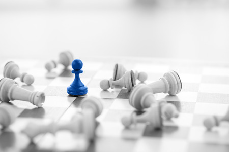 teamleader: Chess business concept, leader & success