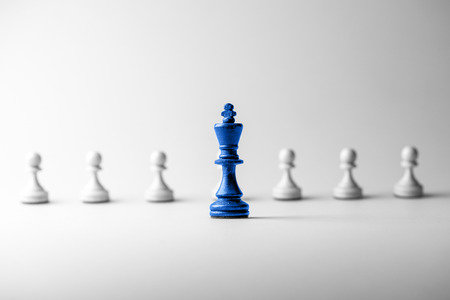 business success: Chess business concept, leader & success