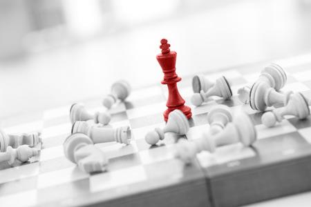 チェス ビジネス コンセプト、リーダー ・成功 写真素材