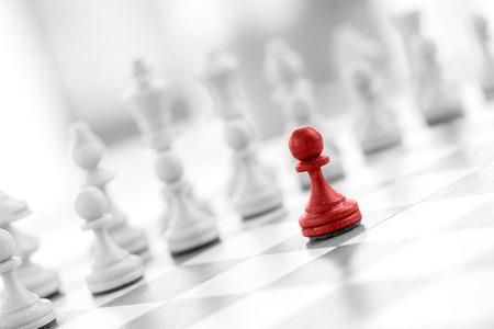 Ajedrez concepto de negocio, el líder y el éxito Foto de archivo - 42667459