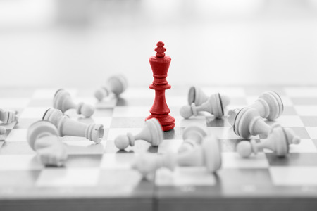 strong team: Chess business concept, leader & success