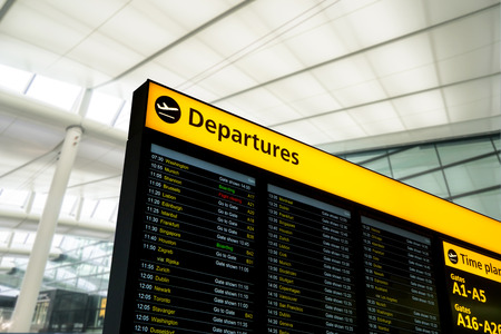 information international: Flight information, arrival, departure at the airport, London, England
