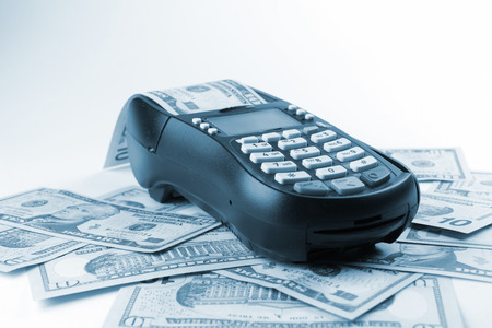 pulling money: Credit card payment and dollar, buy and sell products & service