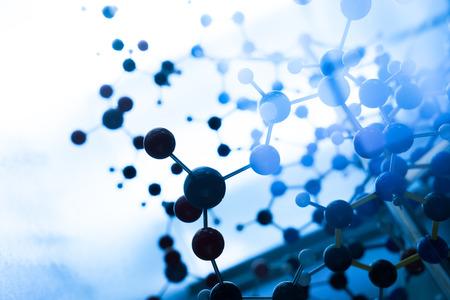 business communication: Science Molecule DNA Model Structure, business teamwork concept