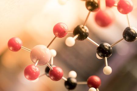 ADN, molécula, química, en prueba de laboratorio de laboratorio Foto de archivo - 43873430
