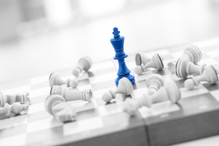 Schaken business concept, leider & succes Stockfoto - 44147176